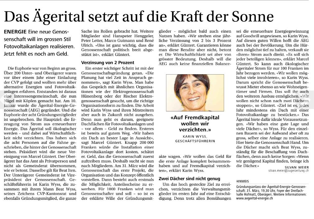 neue zuger zeitung 15-03-2014